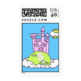 Castle Stamp de quintas del cumpleaños princesas Franqueo