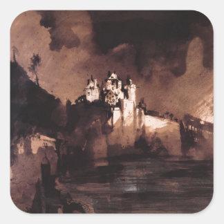 Castle Square Sticker