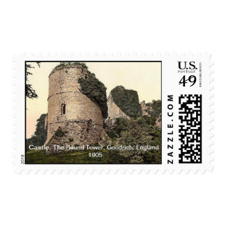 Castle, The Round Tower, Goodrich, England 1905 Postage