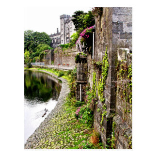 Castle through the Leaves Postcard