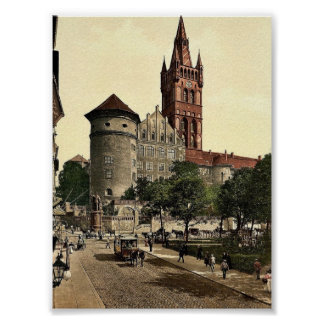 Castle tower and Emperor William's Monument, Konig Print