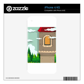 Castle tower and pine trees iPhone 4 decal