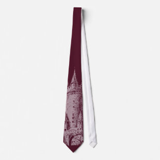 Castle Tower Deep Red Tie