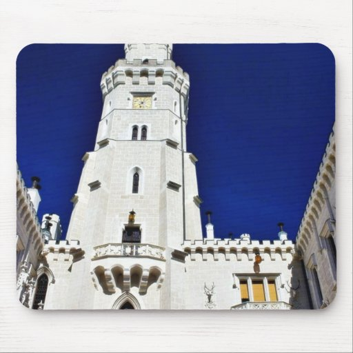 Castle Tower From Greater Distance In Hluboka In S Mousepads