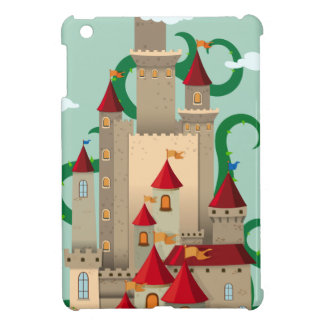 Castle towers with thorny plant iPad mini cover
