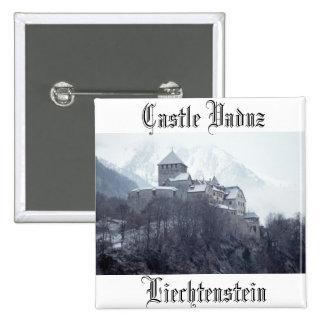 Castle Vaduz Liechtenstein 2 Inch Square Button
