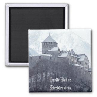 Castle Vaduz Liechtenstein 2 Inch Square Magnet