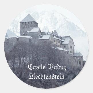 Castle Vaduz Liechtenstein Classic Round Sticker