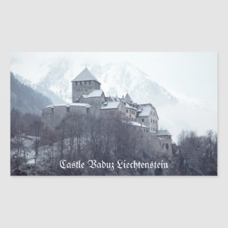 Castle Vaduz Liechtenstein Rectangular Sticker