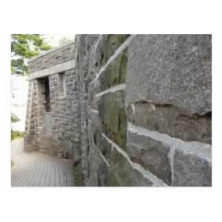 Castle Wall Psalm 27:1 Postcard