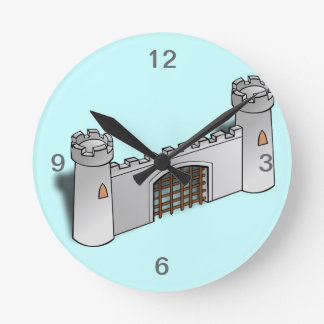 Castle Wall Round Clock