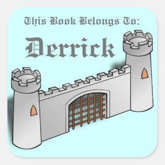 Castle Wall Square Sticker