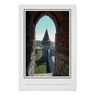 Castle wall, through the window poster