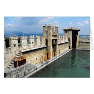 Castle walls, Sirmione, Lake Garda, Italy Card