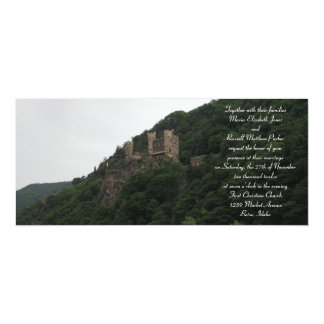 "Castle Wedding Invitations 4"" X 9.25"" Invitation Card"