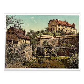 Castle, (west side), Nuremberg, Bavaria, Germany r Postcard