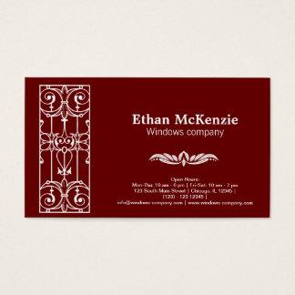 Castle window business card