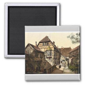 Castle yard, Wartburg, Thuringia, Germany rare Pho 2 Inch Square Magnet