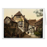 Castle yard, Wartburg, Thuringia, Germany rare Pho Greeting Card