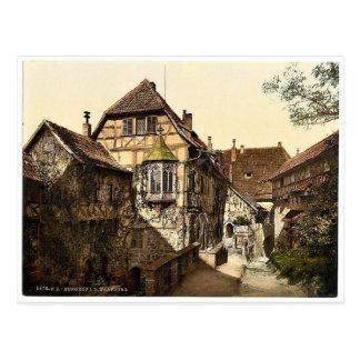 Castle yard, Wartburg, Thuringia, Germany rare Pho Postcard