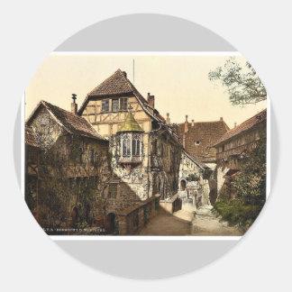Castle yard, Wartburg, Thuringia, Germany rare Pho Sticker