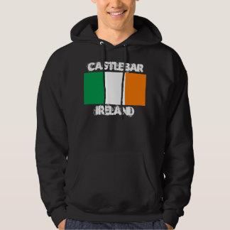 Castlebar, Ireland with Irish flag Pullover