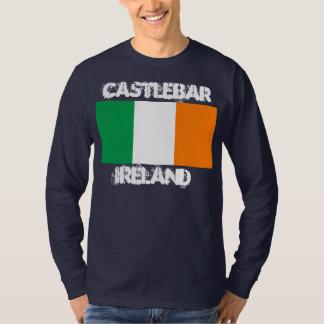 Castlebar, Ireland with Irish flag T Shirt