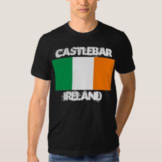 Castlebar, Ireland with Irish flag T-shirt