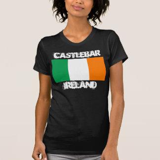 Castlebar, Ireland with Irish flag Tee Shirt