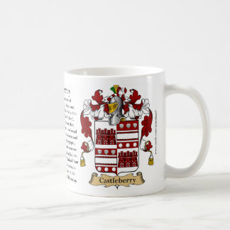 Castleberry, the Origin, the Meaning and the Crest Coffee Mug