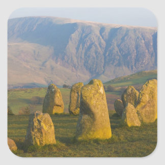 Castlerigg Stone Circle, Lake District, Cumbria, Square Sticker