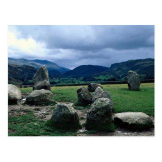 Castlerigg stone circle near Keswick, Cumbria, Lak Post Card