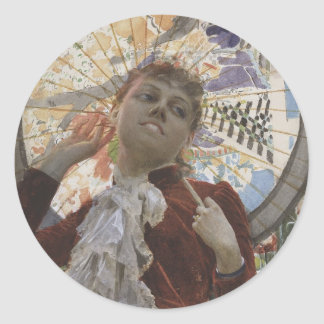 Castles in The Air by Anders Zorn Classic Round Sticker