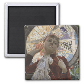 Castles in The Air by Anders Zorn 2 Inch Square Magnet