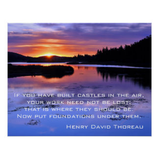 Castles in the air - Thoreau Poster