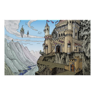 Castles in the Clouds Fantasy Poster