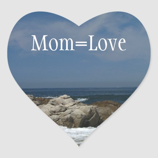 Castles in the Sand; Happy Mother's Day Heart Sticker