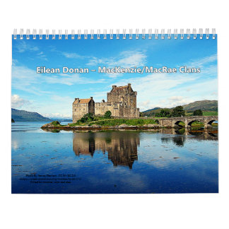 Castles Of 13 Scottish Highland Clans Calendar
