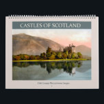 """Castles of Scotland 2018 Calendar<br><div class=""""desc"""">Vintage photolithographs from 1895 of Scottish castles. Digitally cleaned,  enhanced and artistically rendered to resemble pen and ink with watercolors. Suitable for framing. Featured buildings: Drummond Castle,  Kilchurn Castle,  Eglinton Castle,  Balmoral Castle,  Doune Castle,  Dunnottar Castle,  Stirling Castle,  Castle Campbell,  Carrick Castle,  Culzean Castle,  Dunskey Castle.</div>"""