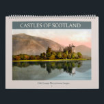 "Castles of Scotland 2018 Calendar<br><div class=""desc"">Vintage photolithographs from 1895 of Scottish castles. Digitally cleaned,  enhanced and artistically rendered to resemble pen and ink with watercolors. Suitable for framing. Featured buildings: Drummond Castle,  Kilchurn Castle,  Eglinton Castle,  Balmoral Castle,  Doune Castle,  Dunnottar Castle,  Stirling Castle,  Castle Campbell,  Carrick Castle,  Culzean Castle,  Dunskey Castle.</div>"