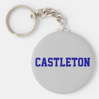 CASTLETON BASIC ROUND BUTTON KEYCHAIN