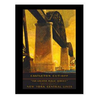 Castleton Cut-Off New York Central Lines Postcard