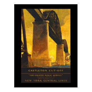 """""""Castleton Cut-Off"""" New York Central Lines Vintage Postcard"""