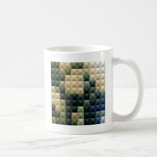 Castleton Green Abstract Low Polygon Background Coffee Mug
