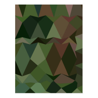Castleton Green Abstract Low Polygon Background Postcard