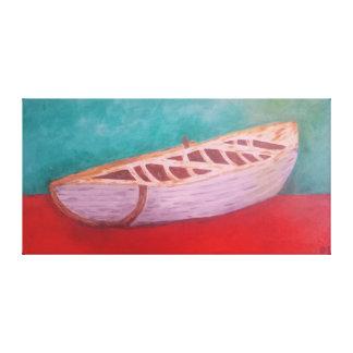 Castoff Rowboat Canvas Print
