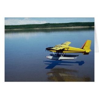 Castor, aterrizando en el río felicitación