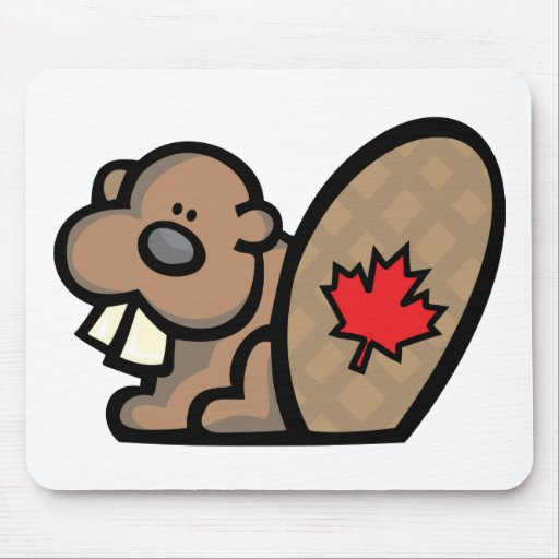 Castor canadiense alfombrilla de ratones