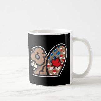 castor canadiense americano lindo taza