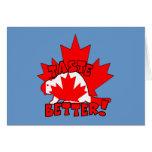 Castor canadiense felicitacion